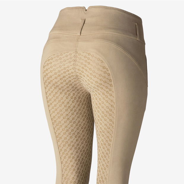 Daniela Womens Full Seat Silicon Breeches - Beige