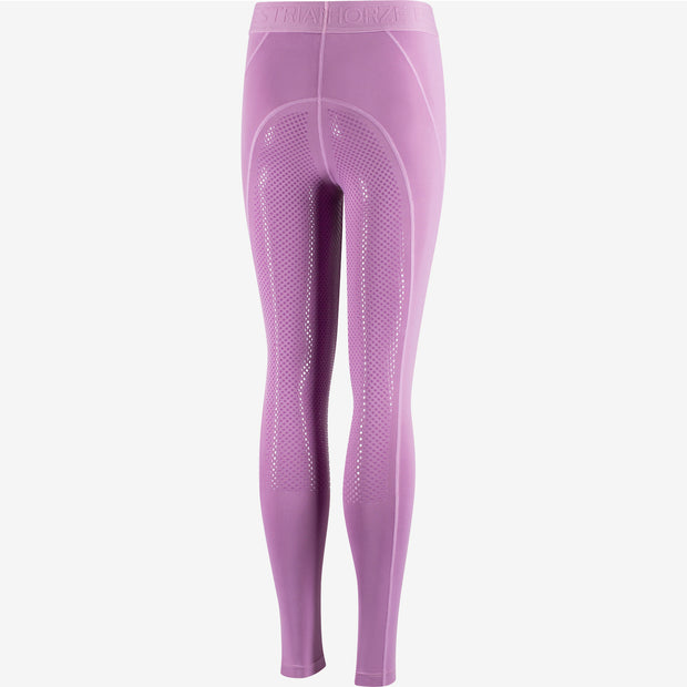 Horze Madison Kids Full Seat Silicon Tights - Purple