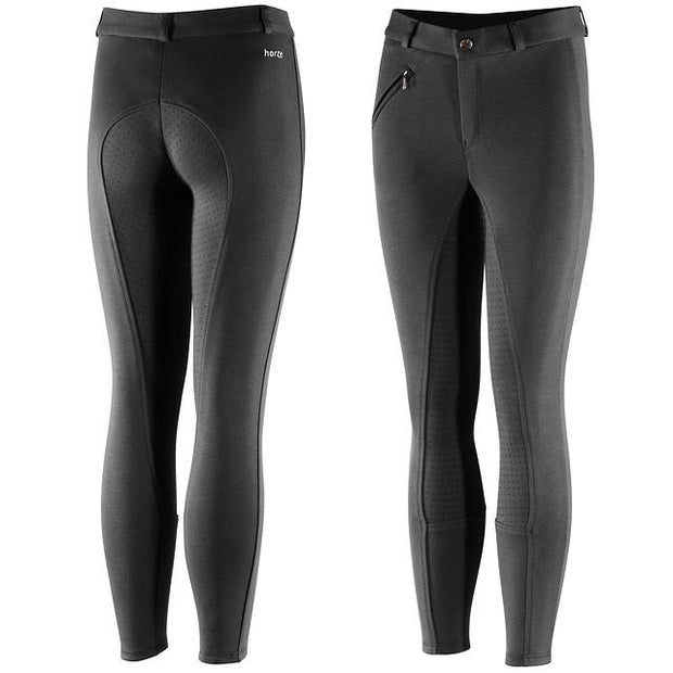 Junior Active Silicone Grip Full Seat Breeches - Black