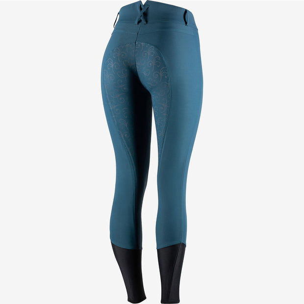 Angelina Women's Silicone Full Seat Breeches - Sea Blue