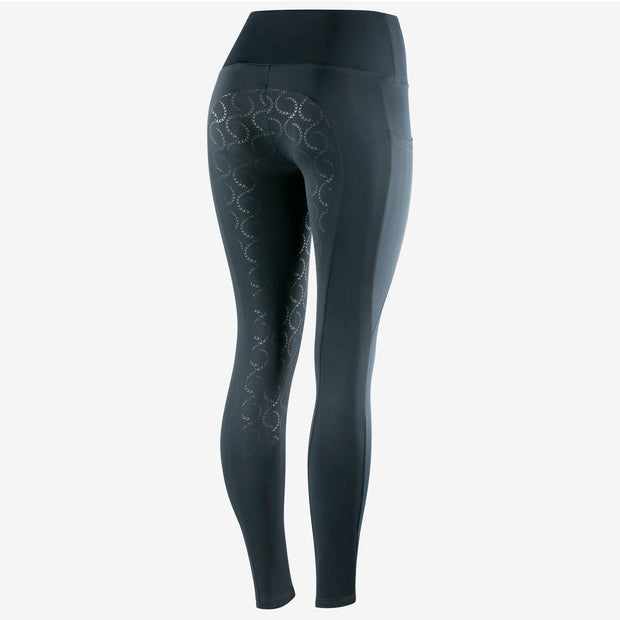 Gracie Silicone FS Riding Tights - Navy