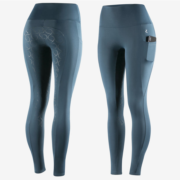 Gracie Silicone FS Riding Tights - Teal