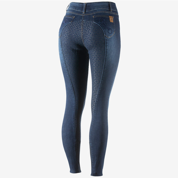 Kaia Womens Dark Denim Silicone FS Breeches