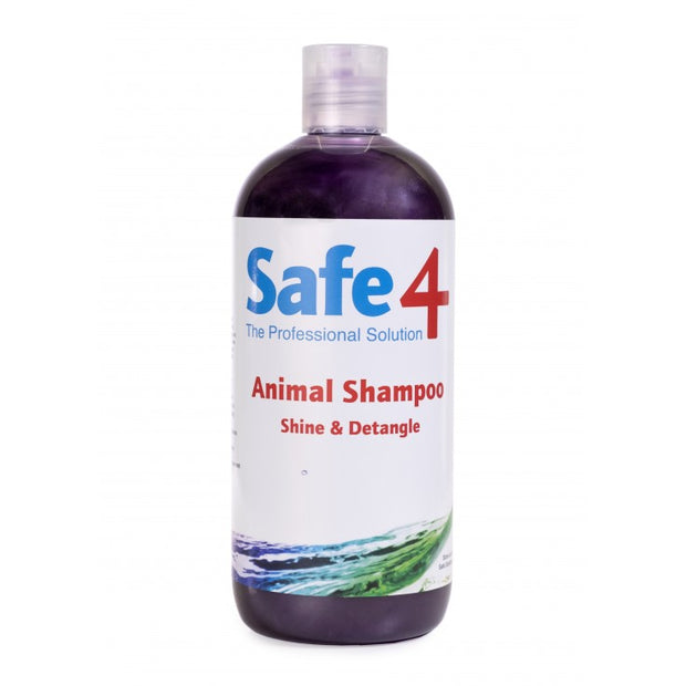 Safe4 Animal Shampoo - Shine & Detangle, 500ml