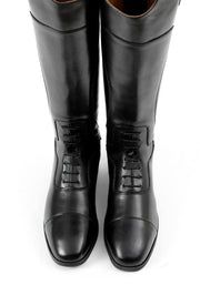 PEI Dellucci Ladies Tall Leather Field Riding Boot - Black
