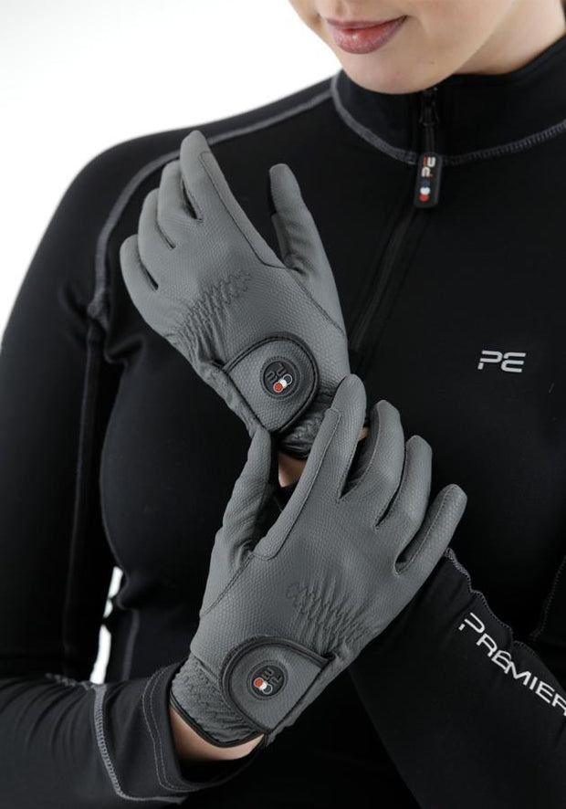 PEI Metaro Riding Gloves - Grey