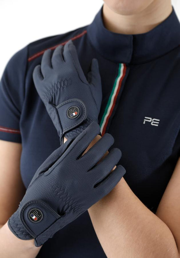 PEI Metaro Riding Gloves - Navy