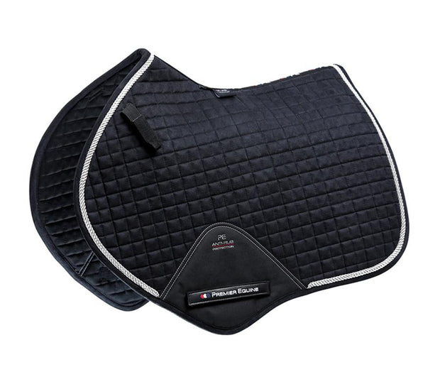 Premier Equine Close Contact Jump Pad - Black Techno Suede