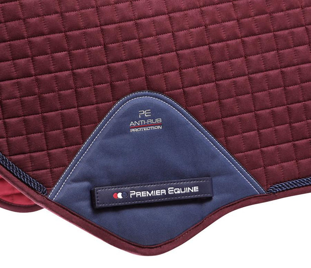 Premier Equine Close Contact Jump Pad - Burgundy Techno Suede