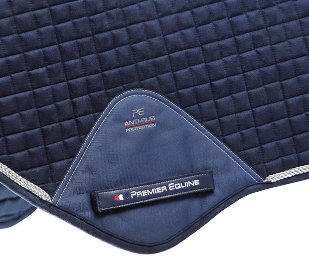 Premier Equine Close Contact Jump Pad - Navy Techno Suede
