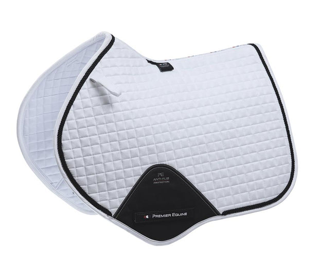 Premier Equine Close Contact Jump Pad - White Techno Suede