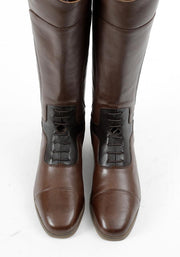 PEI Dellucci Ladies Tall Leather Field Riding Boot - Brown