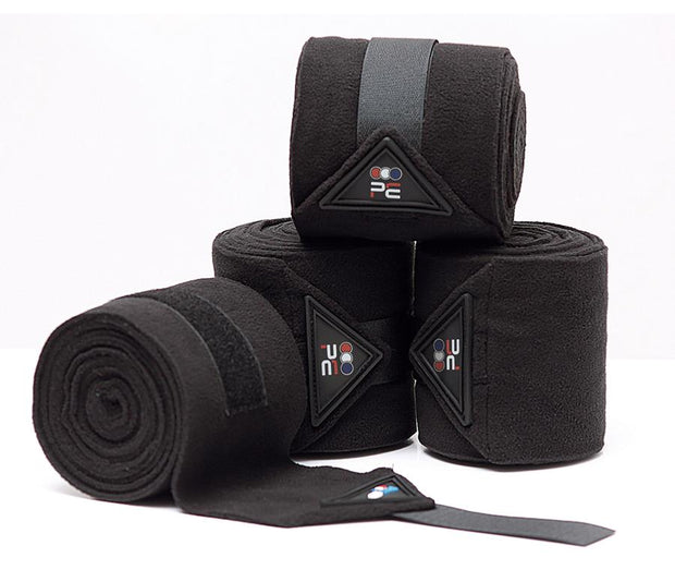 Premier Equine Polo Fleece Bandages - Black