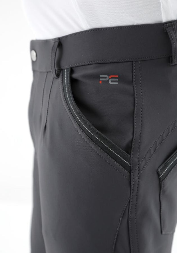 PEI Barusso Men's Gel Knee Breeches - Anthracite