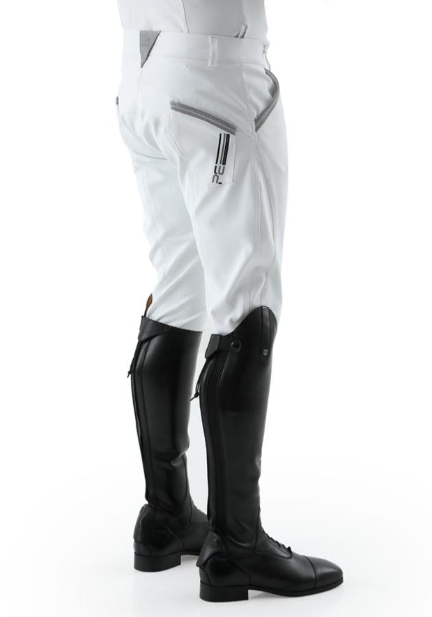 PEI Barusso Men's Gel Knee Breeches - White