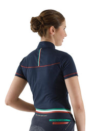 PEI Dezolia Ladies Technical Short Sleeved Riding Top - Navy