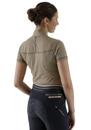 PEI Dezolia Ladies Technical Short Sleeved Riding Top - Walnut