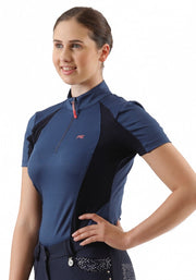 PEI Enduria Ladies Technical Short Sleeved Riding Top - Blue