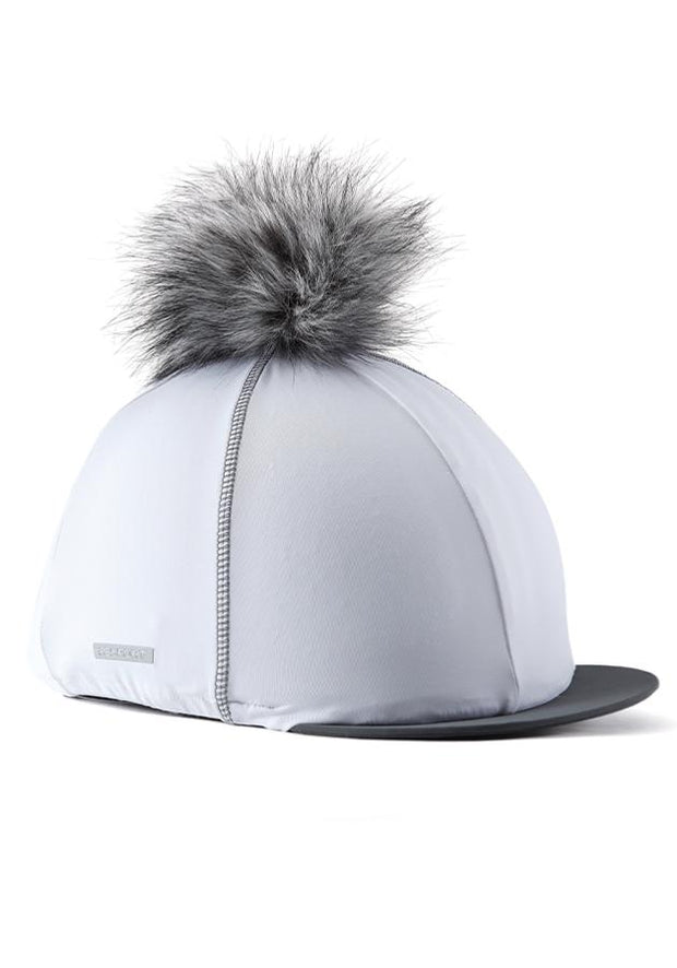 Hat Silk with PomPom - White