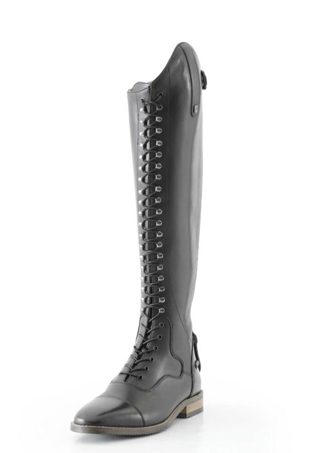 PEI Maurizia Ladies Lace-up Tall Riding Boots - Black