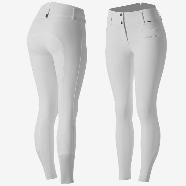 B Vertigo Tiffany High Waist Silicone FS Breeches - White
