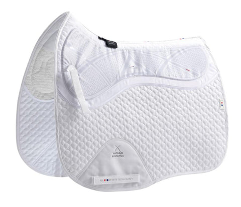 Premier Equine Tech Grip Pro Anti-Slip Saddle Pad - Dressage Square - White