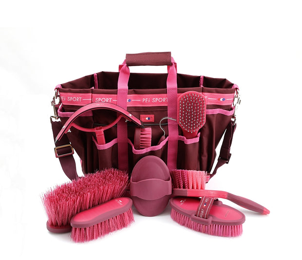 Deluxe Soft-Touch Grooming Kit Set - Fuschia