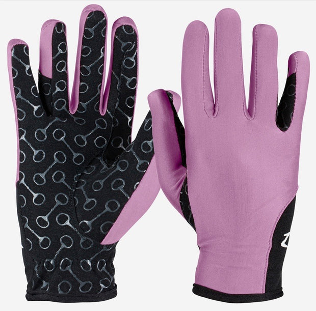 Kids Riding Gloves with Silicon Grip - Pink
