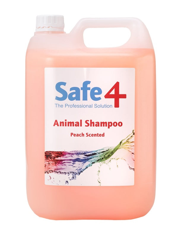 Safe4 Animal Shampoo - Peach, 5L