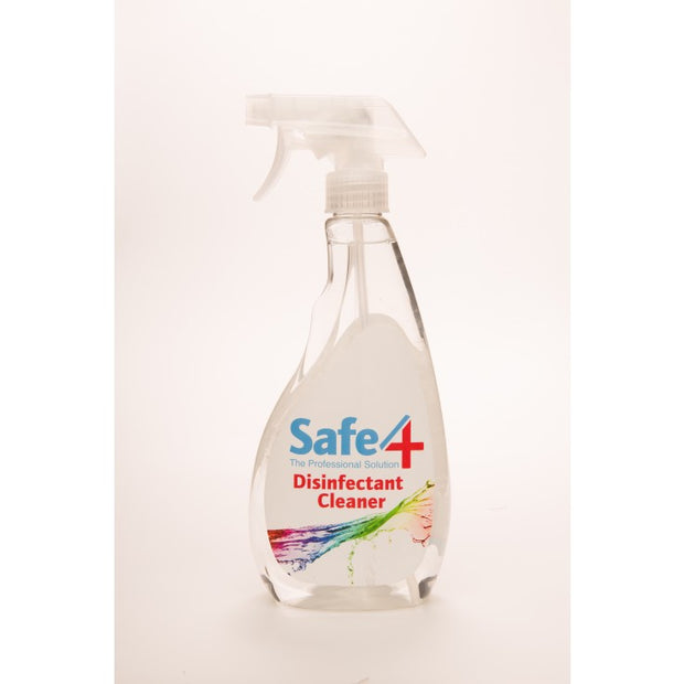 Safe4 Disinfectant Cleaner - Clear, 500ml
