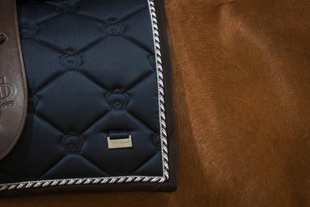 PS of Sweden Saddle Pad Monogram Deep Sapphire Jump