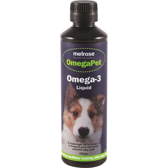 Melrose OmegaPet Omega 3 Liquid Supplement 250ml