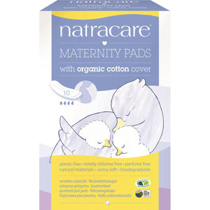 Natracare Maternity Pads w Organic Cotton Cover x 10 Pack
