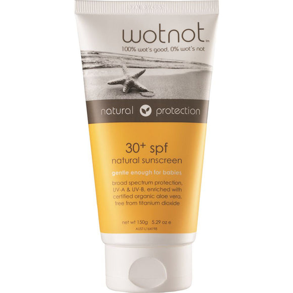 Wotnot 30 Plus SPF Natural Sunscreen 150g