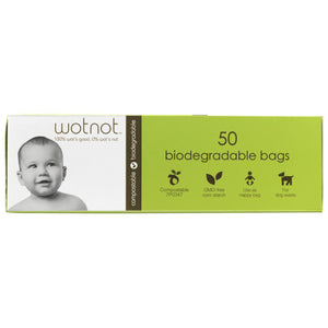 Wotnot Biodegradable Nappy Bags x 50 Pack