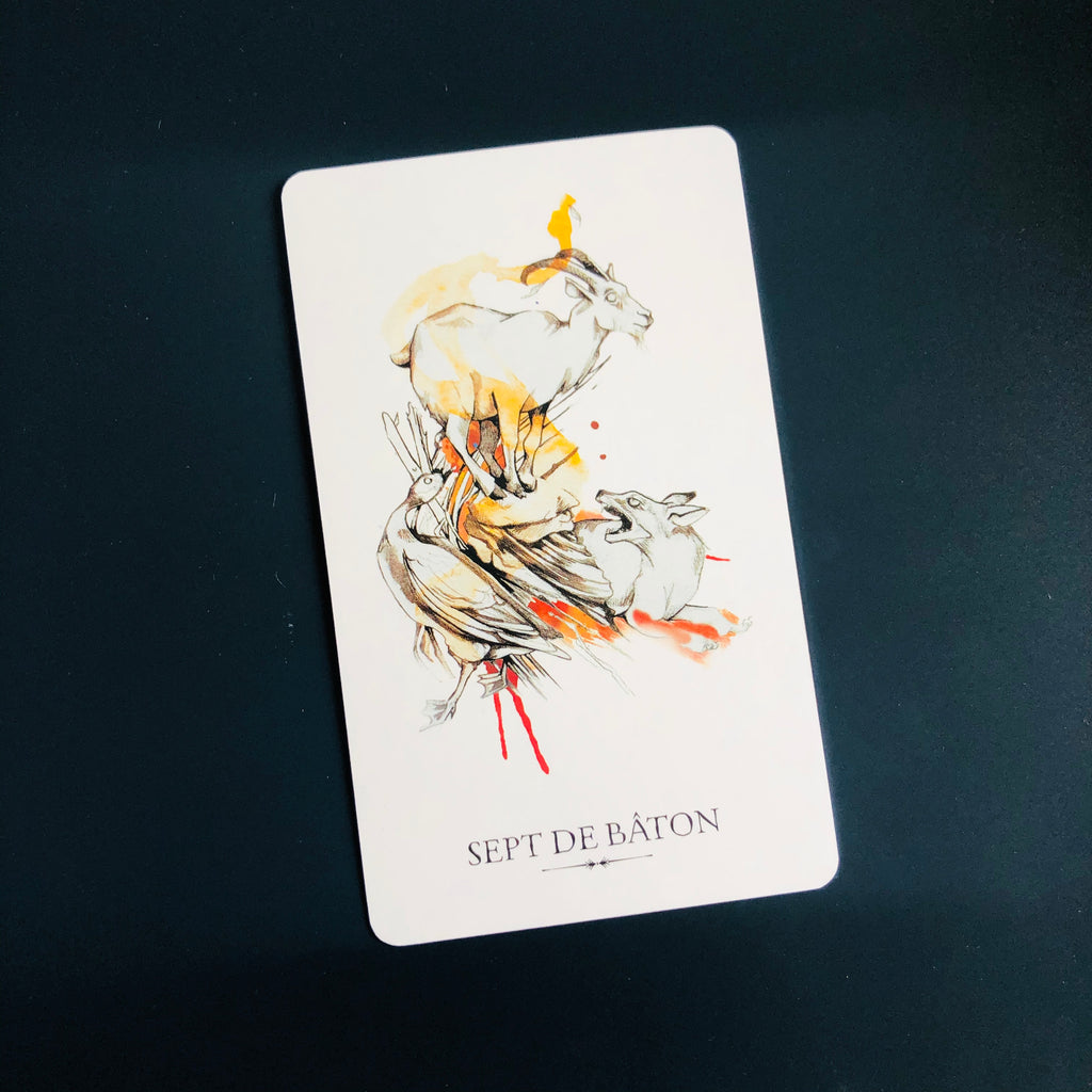 signification du sept de baton, tarot