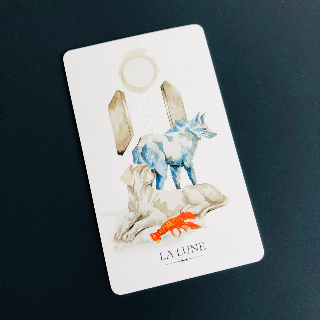 signification de la lune, tarot