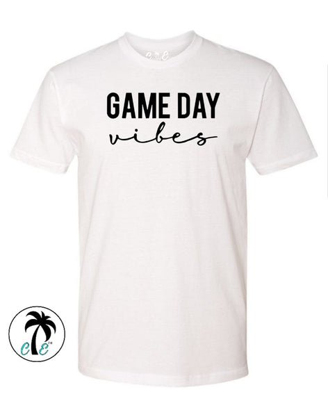white Game day Vibes Shirt