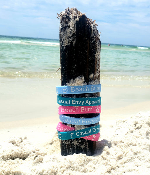 save the turtles with casual envy rubber bracelet 3 colors