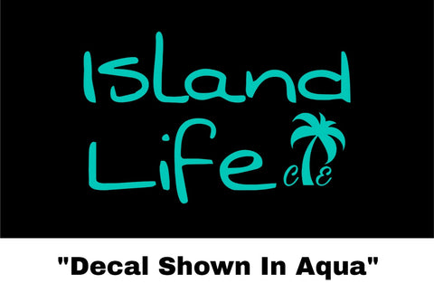 Island Life Sticker - Car Decal