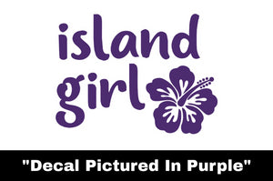 Island Girl Decal - Car Sticker