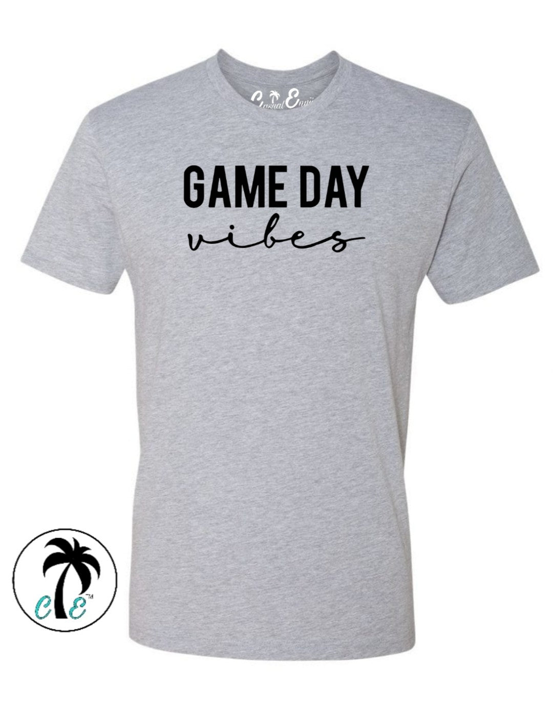grey Game day Vibes Shirt