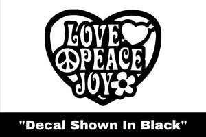 Love - Peace - Joy Sticker - Car Decal
