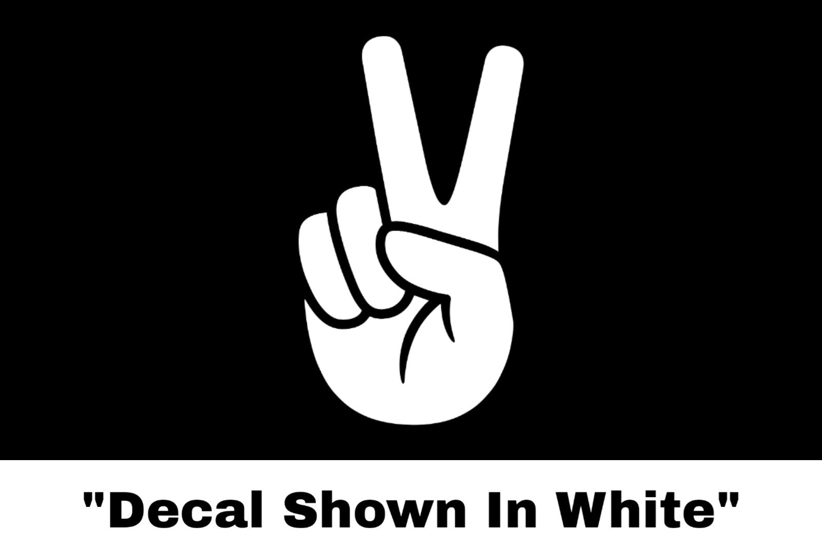 Peace Sign Hand Sticker - Car Decal