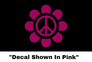 Peace Sign Flower Sticker - Car Decal