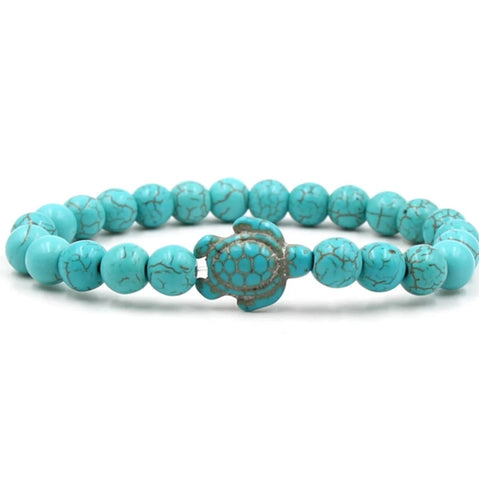 Sea Turtle Stone Bracelet (3) Colors
