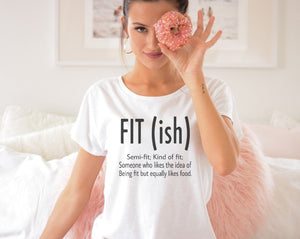fit ish tshirt, semi fit, kind of fit tshirt