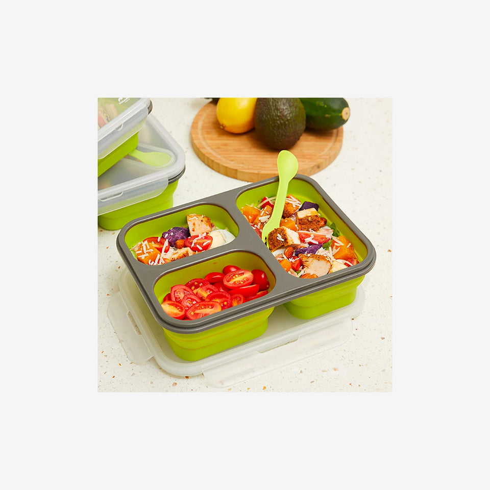 Silicone Foldable Lunch Box (L)