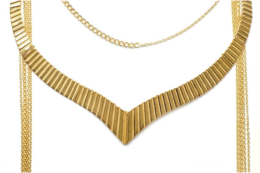 Golden Whip Necklace