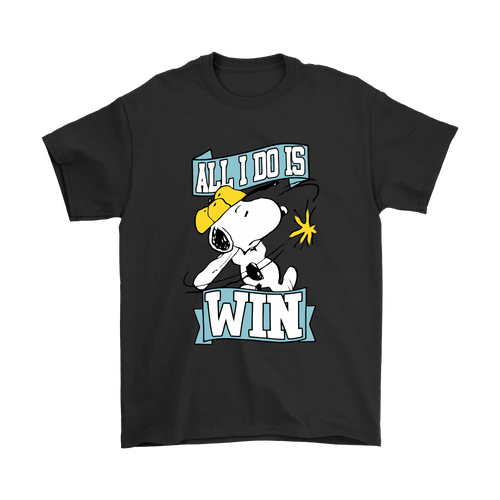 All I Do Is Win Baseball Snoopy Shirts-T-shirt-Gildan Mens T-Shirt-Black-S-Snoopy Facts
